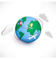 global logistics isometric icon vector image