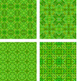 Green seamless mosaic pattern background set vector image vector image