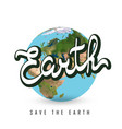 greeting card with earth day vector image