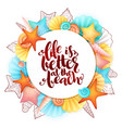 hand lettering summer phrase - life is vector image