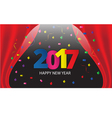 Happy New Year 2017 paper type vector image