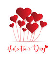 heart balloon for valentines day vector image