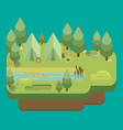 hiking and camping summer landscapes flat design vector image vector image