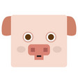 isolated pig face vector image vector image