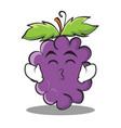 kissing smile eyes grape character cartoon vector image vector image