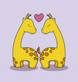 love card with cute giraffe vector image