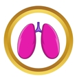 Lungs icon vector image vector image