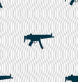 machine gun icon sign Seamless pattern with vector image