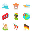 migrate icons set cartoon style vector image vector image