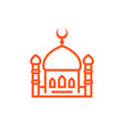 mosque icon linear sign vector image vector image