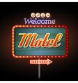 Neon sign motel vector image vector image