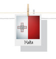 photo of malta flag vector image vector image