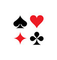 playing cards symbols vector image vector image