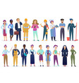 professional workers people set standing together vector image