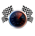 Racing Speedometer and checkered flags vector image vector image