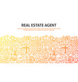 real estate agent concept vector image vector image