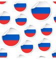 russia flag sticker seamless pattern background vector image
