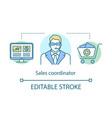 sales coordinator concept icon customer support