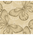 seamless background with brown butterflies vector image vector image