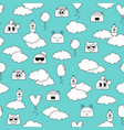 seamless doodle pattern with fanny characters vector image