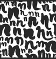 seamless pattern with calligraphy letters n vector image