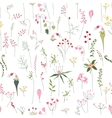 Seamless pretty pattern with stylized forest vector image vector image