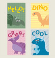 set of 4 cards templates with dinosaurs for vector image vector image