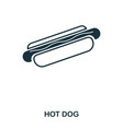 simple outline hot dog icon pixel perfect linear vector image