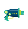 space ray gun colorful blaster toy weapon vector image
