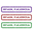 spain valencia watermark stamp vector image vector image