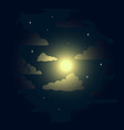 starry sky in the clouds vector image vector image