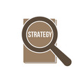 strategy word magnifying glass vector image
