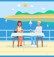 summer sea vacation background with romantic vector image vector image
