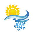 sun and snowflake symbol ventilation vector image vector image