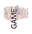 the best game site recomended text background vector image vector image