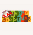 the text of a happy christmas with santa claus vector image vector image
