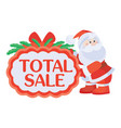 total sale sticker for christmas discounts vector image vector image