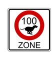 traffic sign for dogs vector image vector image