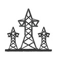 transmission towers icon image vector image vector image