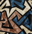 urban graffiti seamless texture with grunge effect vector image vector image