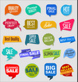 vintage style sale tags design collection 4 vector image vector image