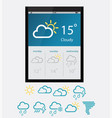 weather widgets vector image