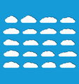 white flat clouds with shadows vector image