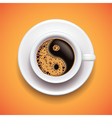 yin-yang coffee relax concept vector image vector image