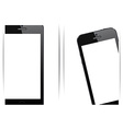 Realistic black smartphone background vector image