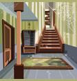 abandoned house broken interior room indoor vector image vector image