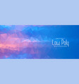 abstract blue geometric low poly banner design vector image vector image