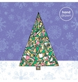 Abstract Christmas fir tree background Hand drawn vector image vector image
