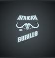 african bufallo logo template vector image vector image