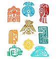 Ancient maya elements and symbols vector image vector image
